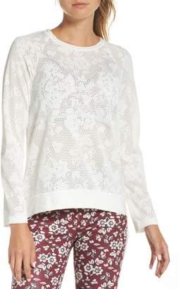 Kate Spade floral mesh top