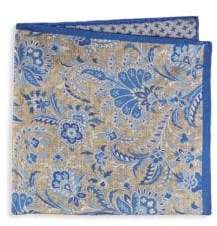 Saks Fifth Avenue Floral Paisley Silk Pocket Square
