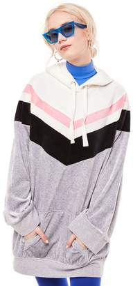 Juicy Couture Colorblock Lightweight Velour Hooded Dress