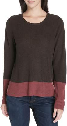 Eileen Fisher Colorblock Tencel(R) Lyocell & Silk Sweater