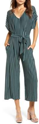 Speechless Jersey Stripe Jumpsuit