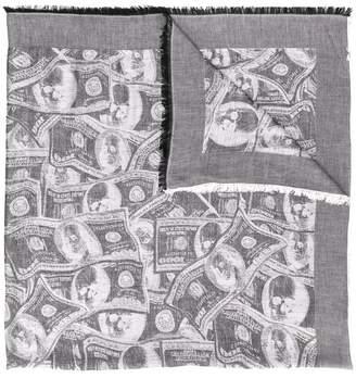 Philipp Plein dollar print foulard