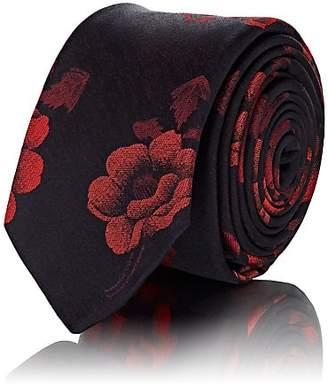 Paul Smith Men's Rose Silk Jacquard Necktie - Navy