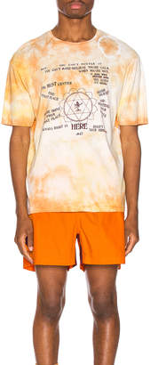 Wales Bonner Presence Print Tee in Pale Orange Tie Dye | FWRD