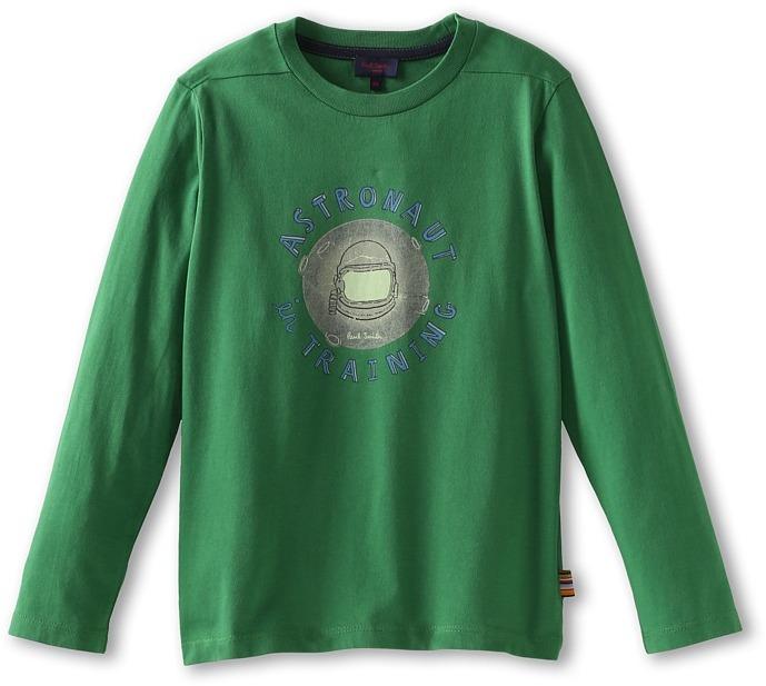 Paul Smith Exor Tee (Big Kids) (Green) - Apparel