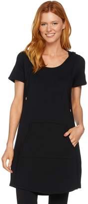 Anybody AnyBody Loungewear Cozy Knit French Terry Short Sleeve Tunic