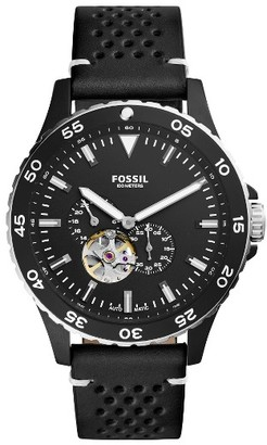 Fossil Crewmaster Automatic Leather Strap Watch, 46Mm $225 thestylecure.com