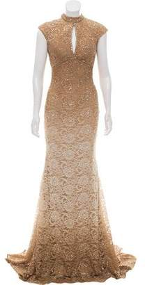 Jovani Sequin-Accented Lace Dress w/ Tags