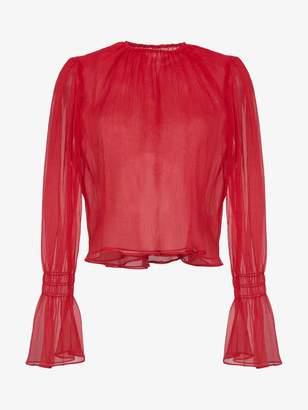 Blend of America Beaufille Camarina sheer silk blouse