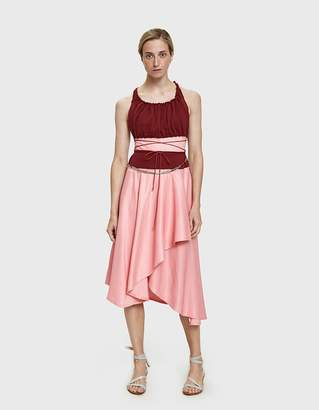 J.W.Anderson Gathered Bodice Belted Dress