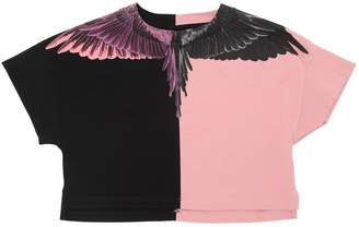 Marcelo Burlon County of Milan Wings Print Jersey Cropped T-Shirt