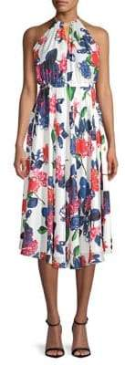 Milly Casey Silk Midi Dress