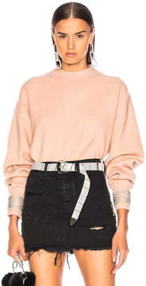 Alexander Wang Crystal Cuff Crew Neck Sweater