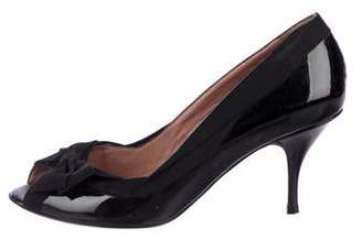 RED Valentino Patent Leather Bow Pumps
