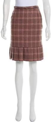 Oscar de la Renta Cashmere Knee-Length Skirt