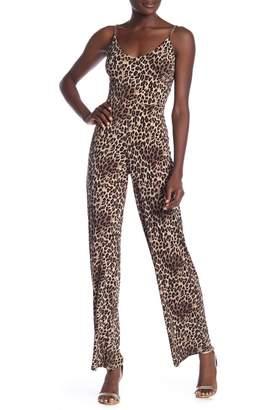 Bebe Chain Strap Animal Jumpsuit