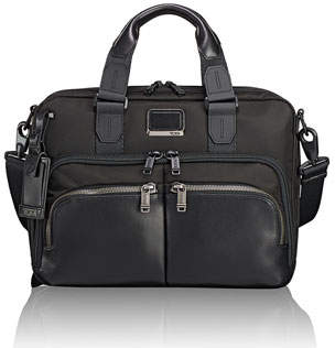 Tumi Albany Slim Compartment Briefcase, Black