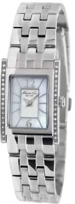Kenneth Cole New York Women's KC4874 Classic Tank Stone on Bezel Watch