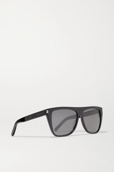 Saint Laurent - D-frame Acetate Sunglasses - Black 3