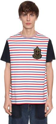 J.W.Anderson Logo Patch Striped Cotton Jersey T-Shirt