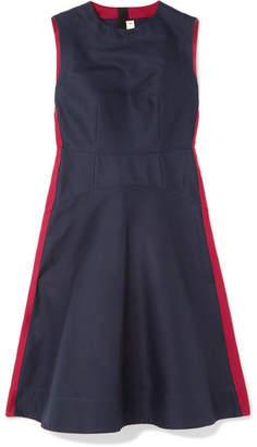 Marni Two-tone Cotton-cady Dress - Navy
