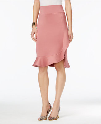 Thalia Sodi Asymmetrical Ruffled Pencil Skirt, Only at Macy's $59.50 thestylecure.com