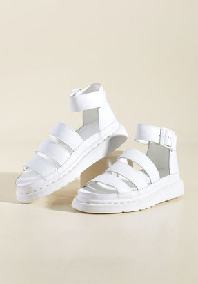 Dr. Martens Flatform Performance Leather Sandal in White in 7 $129.99 thestylecure.com