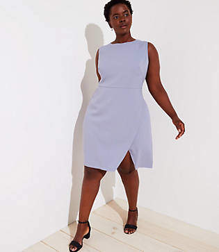 LOFT Plus Wrap Skirt Dress