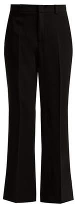 Gucci Wide Leg Cady Trousers - Womens - Black