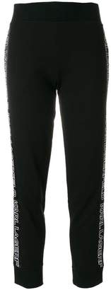Karl Lagerfeld cropped track pants