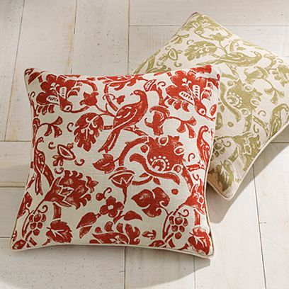 Batik Bird & Branches Pillow