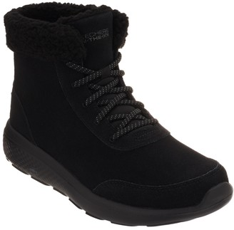 Skechers On-the-GO Lace-Up Suede Boots - City 2 - Frostie