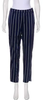 Closed Striped Straight-Leg Pants w/ Tags