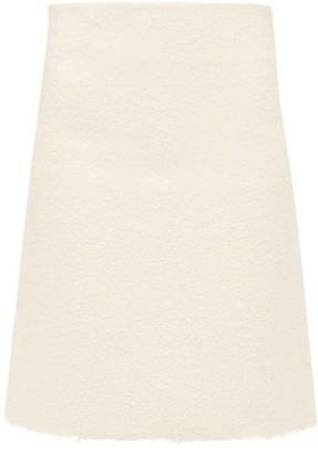 Bottega Veneta A Line Boucle Skirt - Womens - Ivory