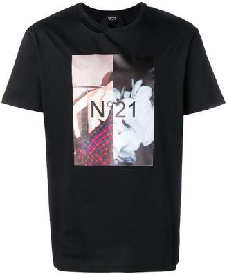 No.21 photographic print T-shirt