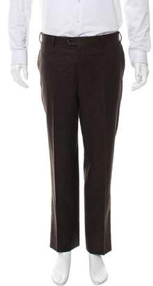 Corneliani Flat Front Virgin Wool Pants