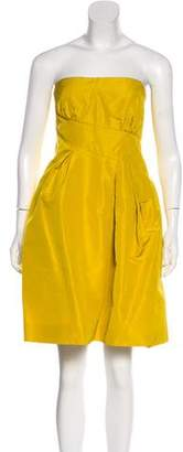 Oscar de la Renta Silk Cocktail Dress