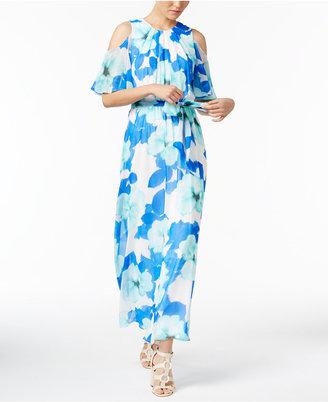 Calvin Klein Cold-Shoulder Maxi Dress $129.50 thestylecure.com