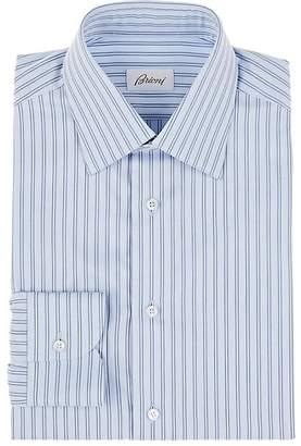 Brioni Men's Double-Striped Cotton Dress Shirt