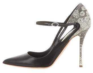 Rupert Sanderson Pointed-Toe Leather Pumps