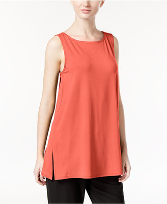 Eileen Fisher Jersey Sleeveless Tunic $88 thestylecure.com