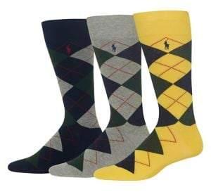 Polo Ralph Lauren Three-Pack Argyle Socks
