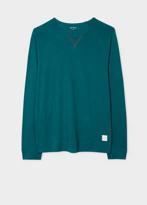 Paul Smith Men's Teal Jersey Cotton Long-Sleeve Top
