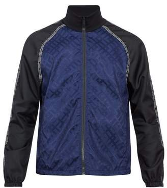 Versace Logo Jacquard Track Jacket - Mens - Black Blue