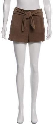 Intermix Mini Leather Shorts