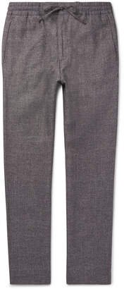 NN07 - Lenny Wool and Linen-Blend Drawstring Trousers