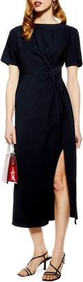 Topshop Side Slit Midi Dress