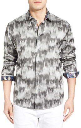 Robert Graham Ghostriders Long Sleeve Classic Fit Sport Shirt $268 thestylecure.com
