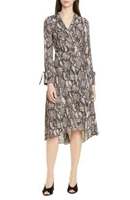 Karen Millen Snake Print Long Sleeve Dress