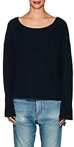 Nili Lotan Women's Martindale Rib-Knit Cotton-Blend Sweater - Navy